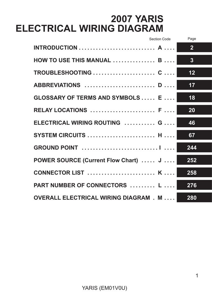 2007 Yaris Electrical Wiring Diagram Manualzz