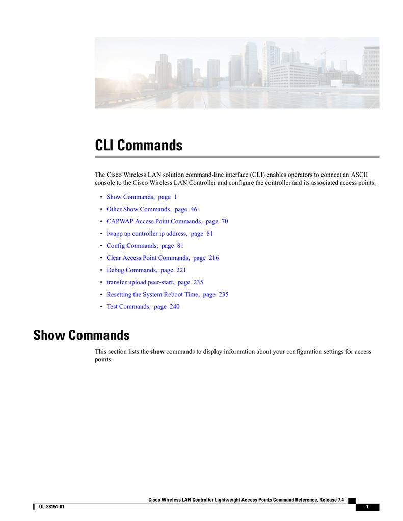 CLI Commands | manualzz com