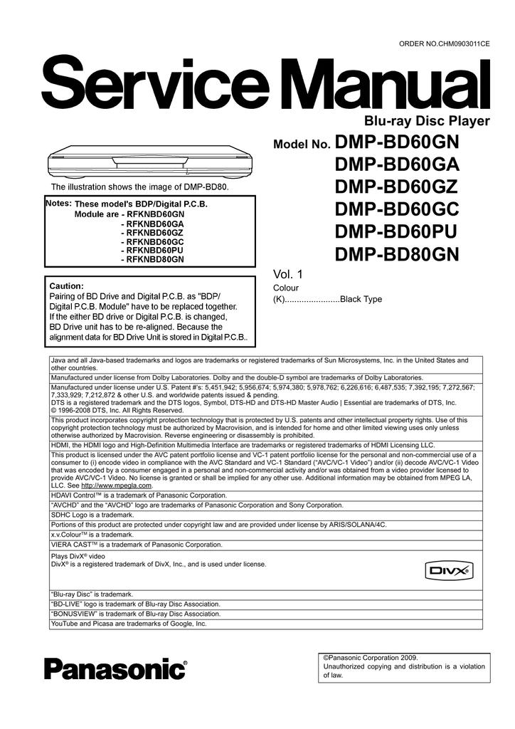 PANASONIC DMP-BD60GZ BLU-RAY PLAYER DRIVERS WINDOWS 7