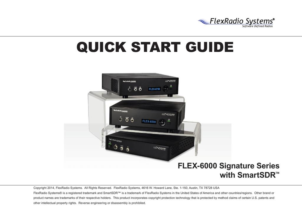 Flex 6000 Family QSG 1 0   manualzz com