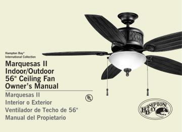 Marquesas Ii Indoor Outdoor 56 Ceiling Fan Owner S Manualzz