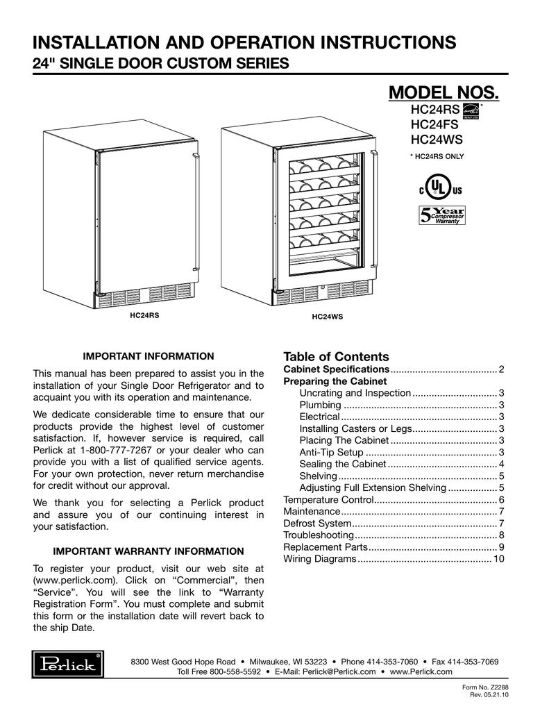 Perlick 65251A Evaporator 24 Fin Coil