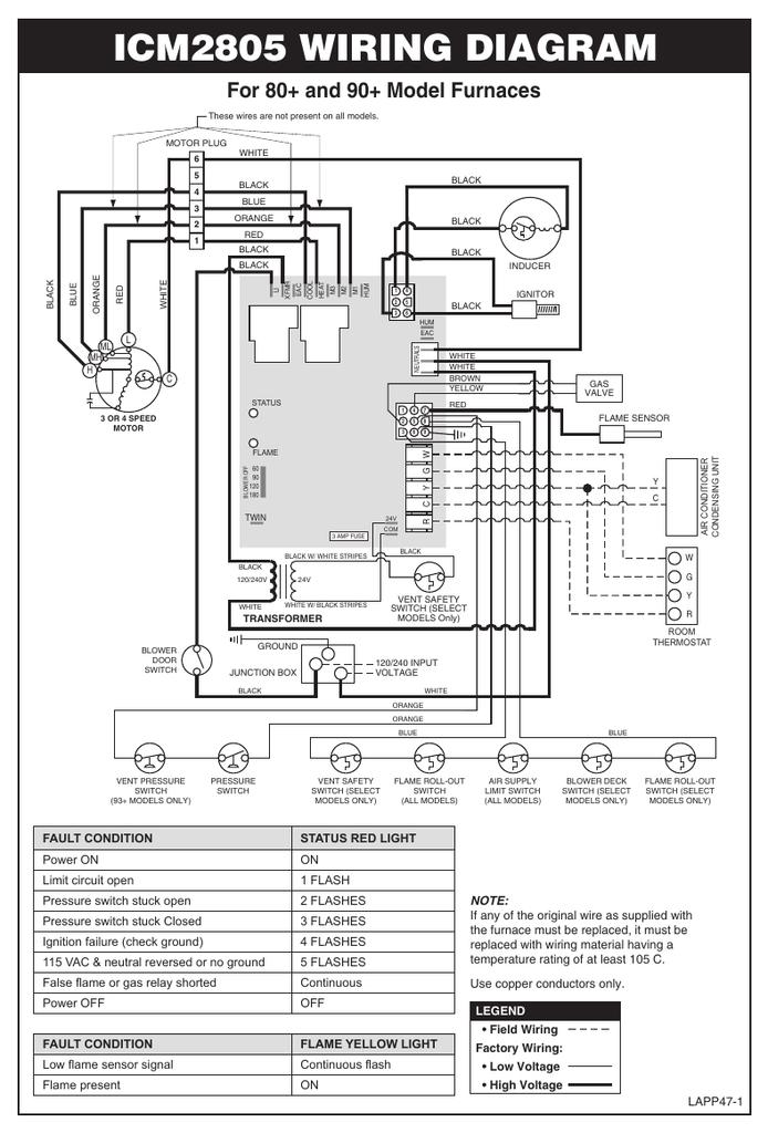 icm2805 wiring diagram  manualzz
