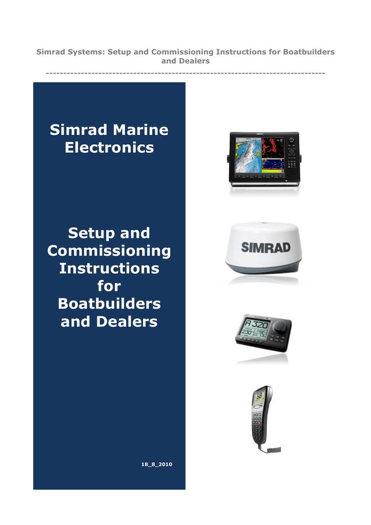 Simrad Marine Electronics Setup and Commissioning