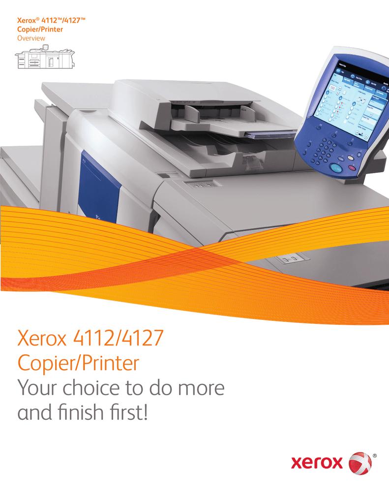 Xerox 4112 / 4127 Copier/Printer Overview | manualzz com