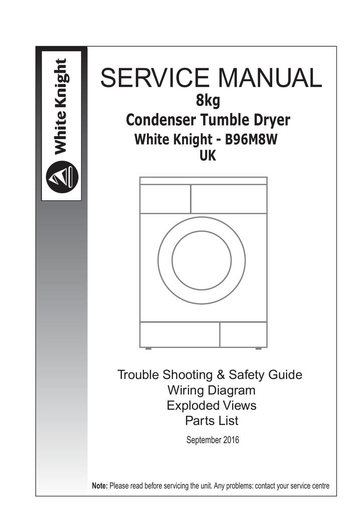 b96m8w white knight spares manualzz com rh manualzz com Defy Tumble Dryer white knight tumble dryer repair manual