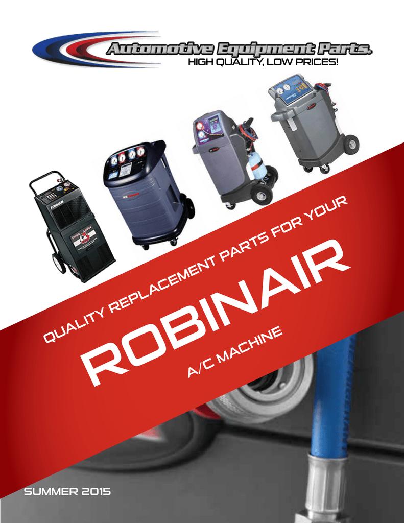 Automotive Equipment Parts 34988 Robinair Ac Unit Wiring Diagram