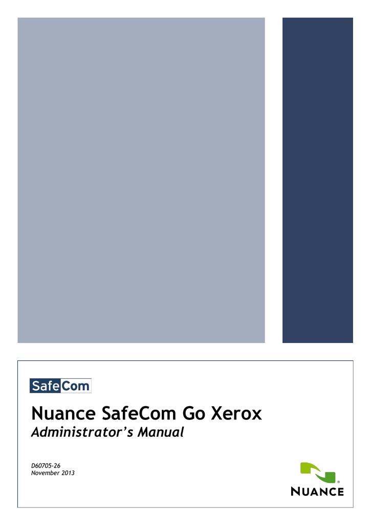 SafeCom Go Xerox Administrator`s Manual   manualzz com