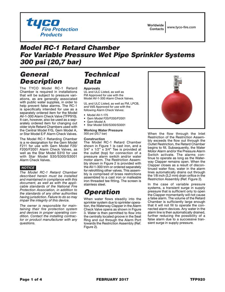 PDF 1536kb - Tyco Fire Products | manualzz com