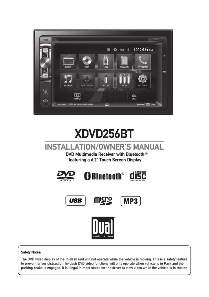 XDVD256BT - Dual Electronics   manualzz com