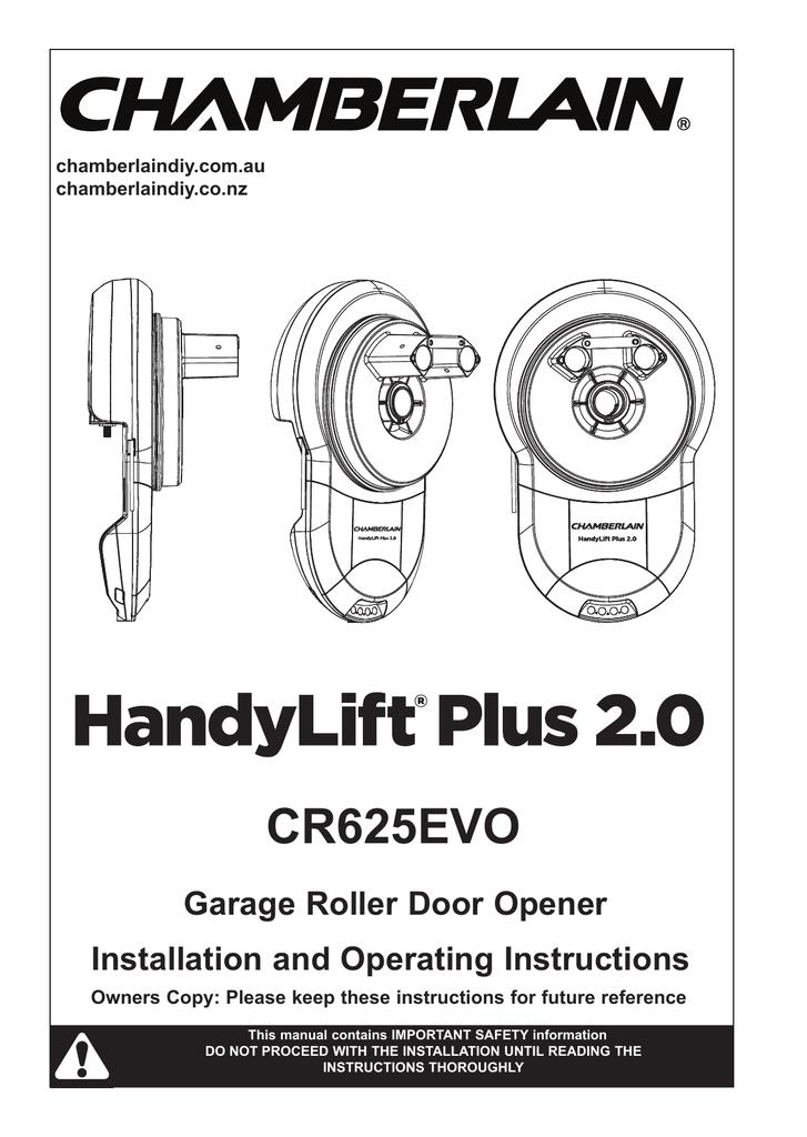 Cr625evo Chamberlain Manualzz