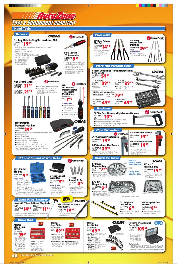 Hand Tools - AutoZone Pro | manualzz com