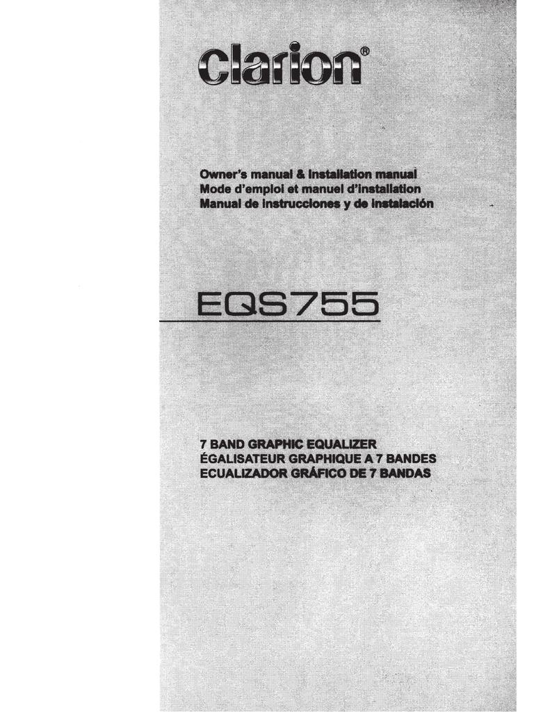 EQS755 User Manual - Gibbys Electronic Supermarket