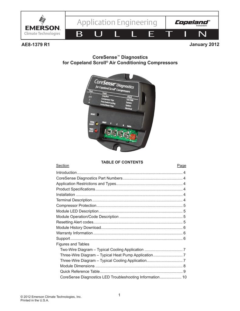 AE-1379, CoreSense™ Diagnostics for Copeland Scroll® Air   manualzz com