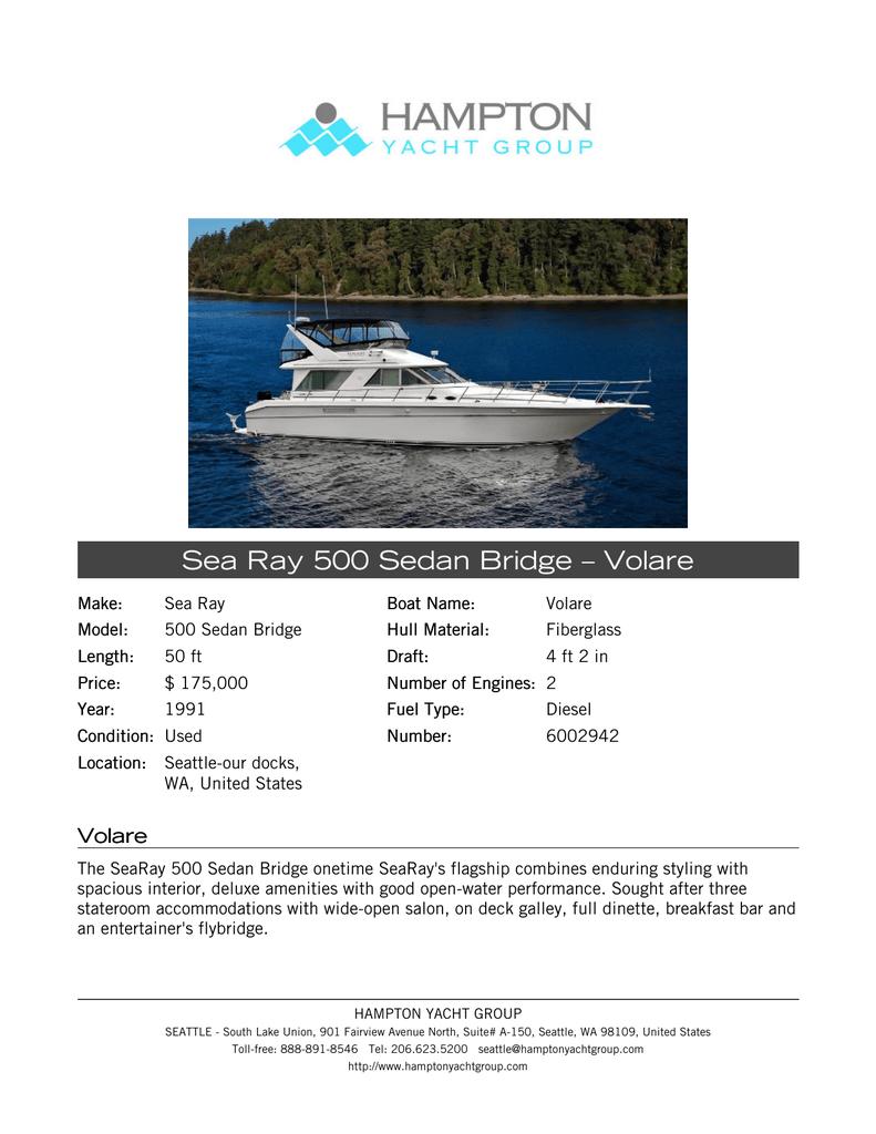 Spec Sheet - Hampton Yacht Group | manualzz.com