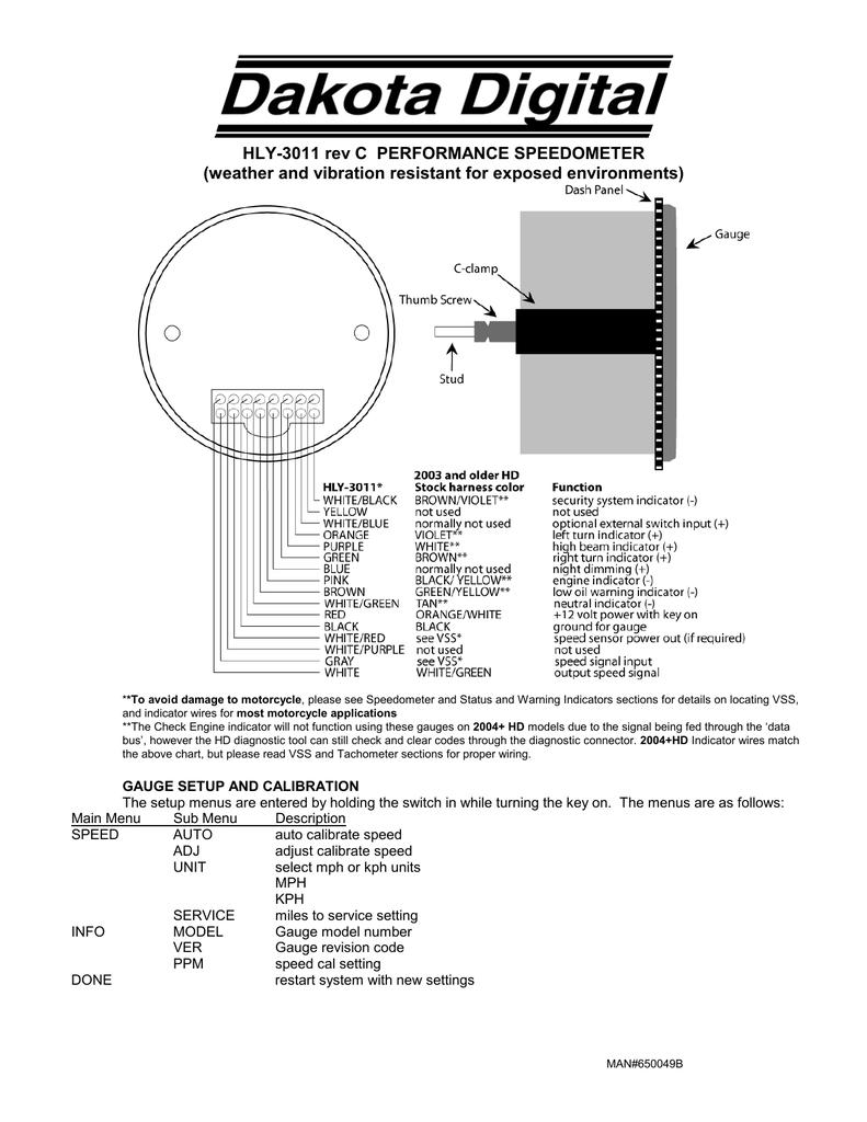 Hly 3011 Rev C Performance Speedometer Manualzz
