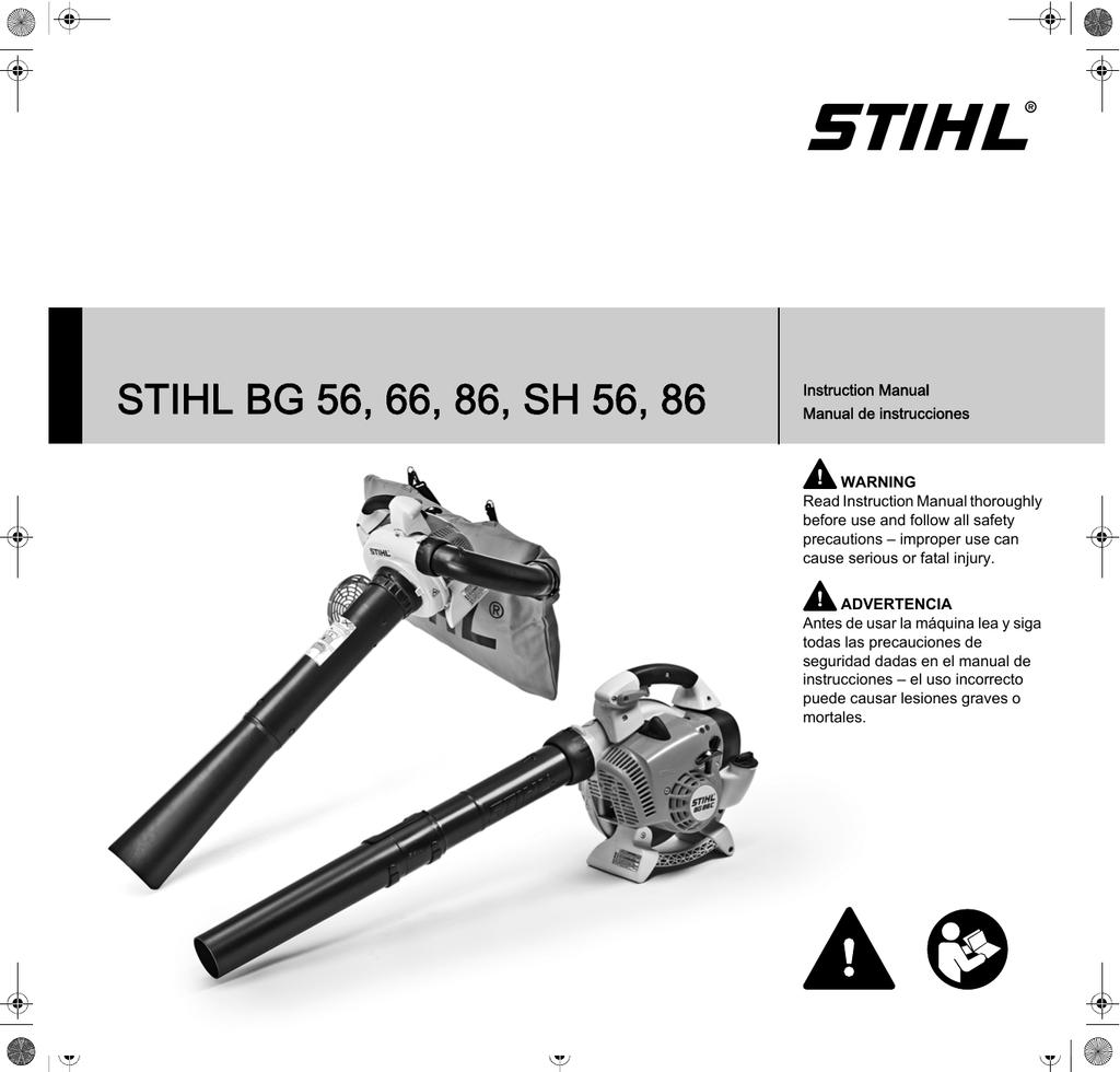 Stihl Bg 56 66 86 Sh 56 86 Owners Instruction Manual Manualzz