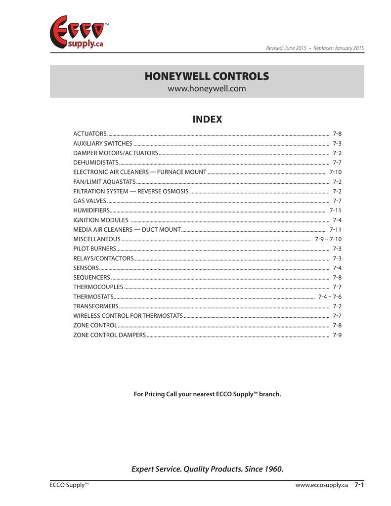 Honeywell Controls | manualzz com