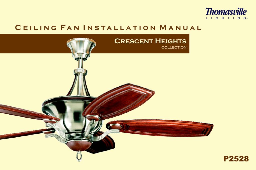 p2528 ceiling fan installation manual manualzz com 3 Wire Ceiling Fan Wiring Diagram