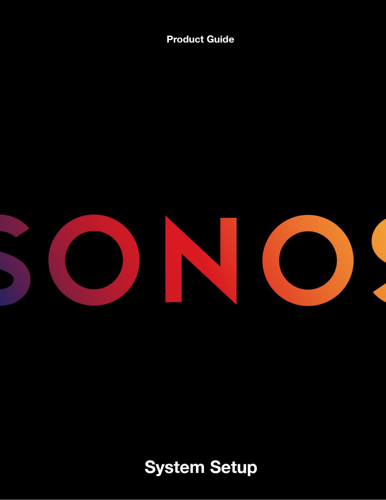 Sonos System Setup