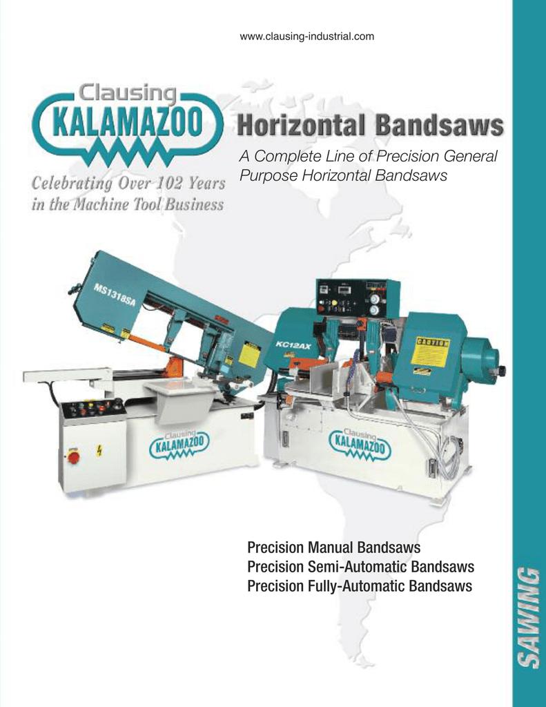 Kalamazoo Horizontal Bandsaws | manualzz com