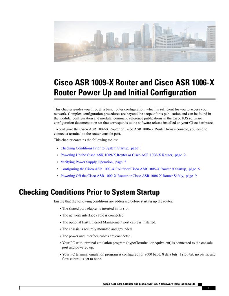 Cisco ASR 1009-X Router and Cisco ASR 1006 | manualzz com