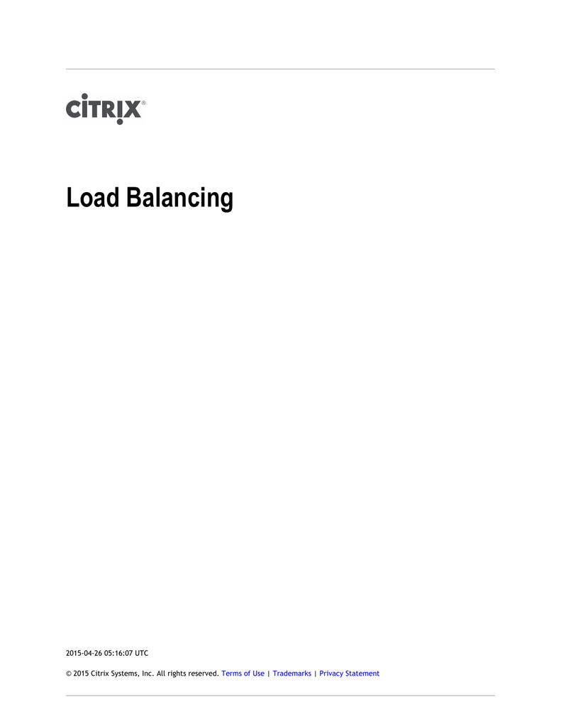 NetScaler 9 3 Load Balancing | manualzz com