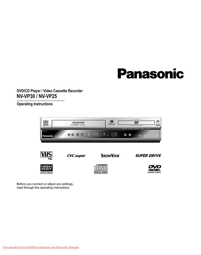 Panasonic NV-VP30 User Guide Manual | manualzz com