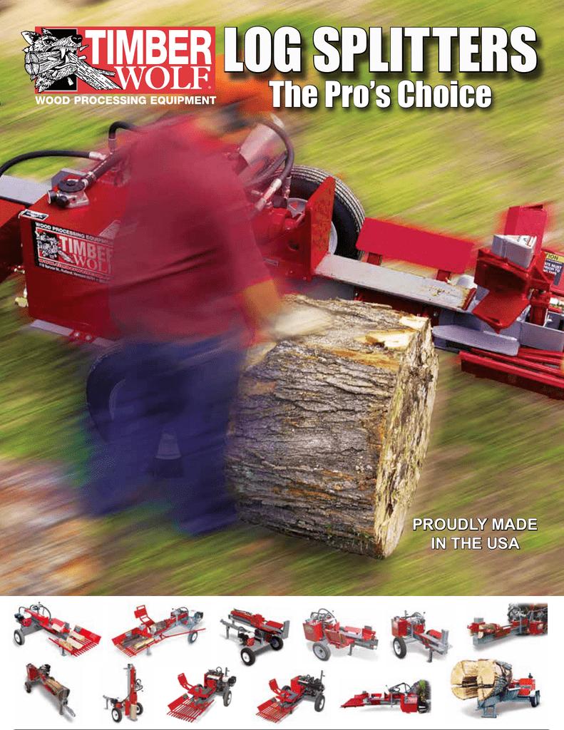 Timberwolf Log Splitter Range Brochure Manualzz