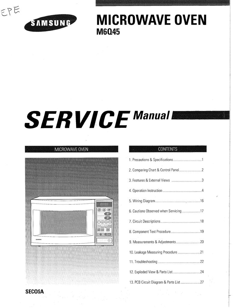 Microwave Oven Manualzz