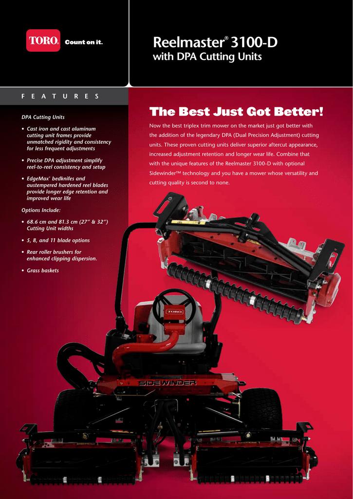 Reelmaster® 3100-D with DPA Cutting Units   manualzz com