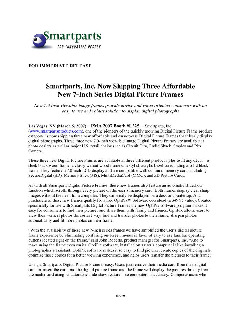 Smartparts Inc Now Shipping Three Affordable New 7 Manualzzcom