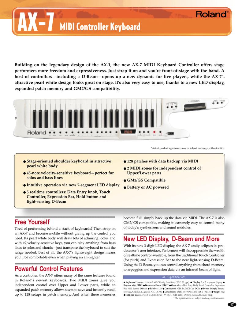 MIDI Controller Keyboard | manualzz com