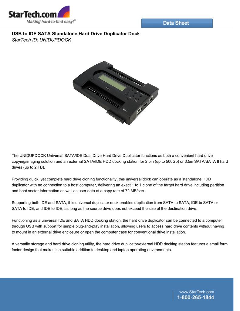USB to IDE SATA Standalone Hard Drive Duplicator Dock