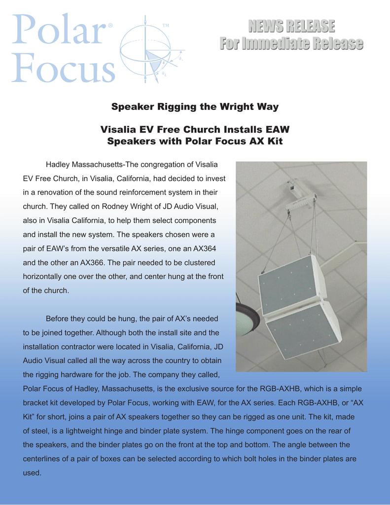 Speaker Rigging The Wright Way Visalia Ev Free Church Installs Manualzz