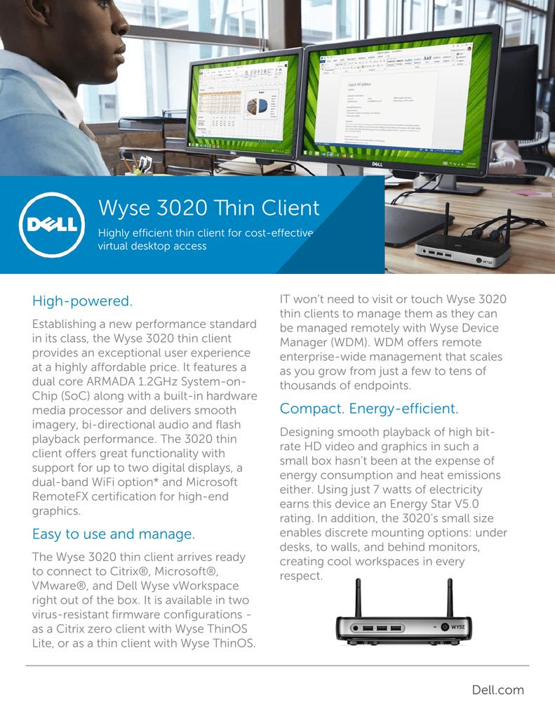Wyse 3020 Thin Client | manualzz com