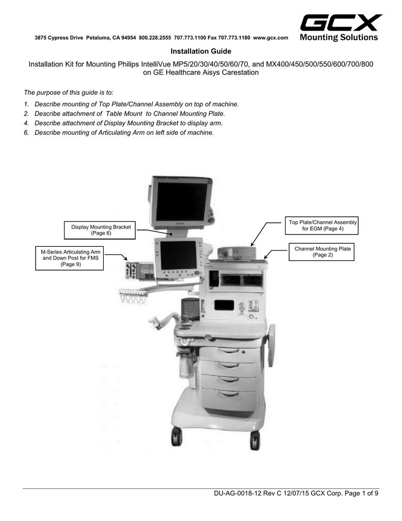GCX Mounting Assembly Installation Guide | manualzz com