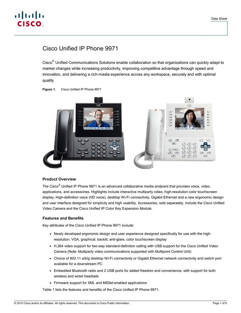 Cisco Unified IP Phone 9971 | manualzz com