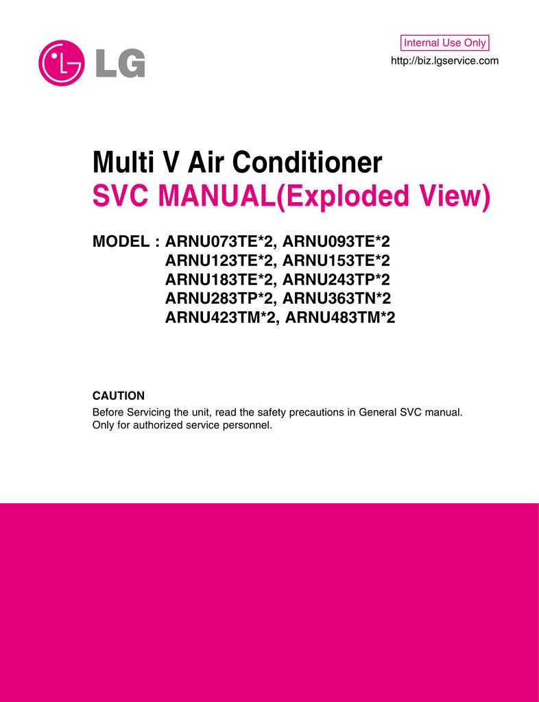 Multi V Air Conditioner SVC MANUAL(Exploded View) | manualzz com