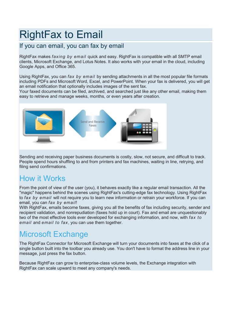 RightFax to Email | manualzz com