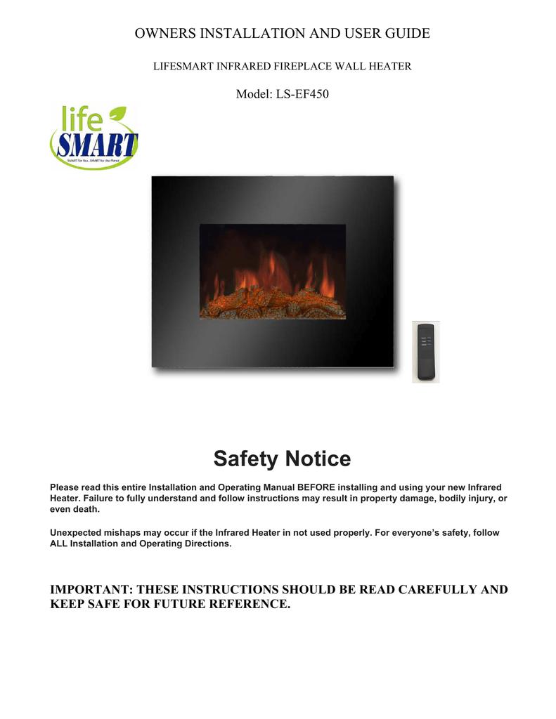 Lifesmart Infrared Fireplace Manual