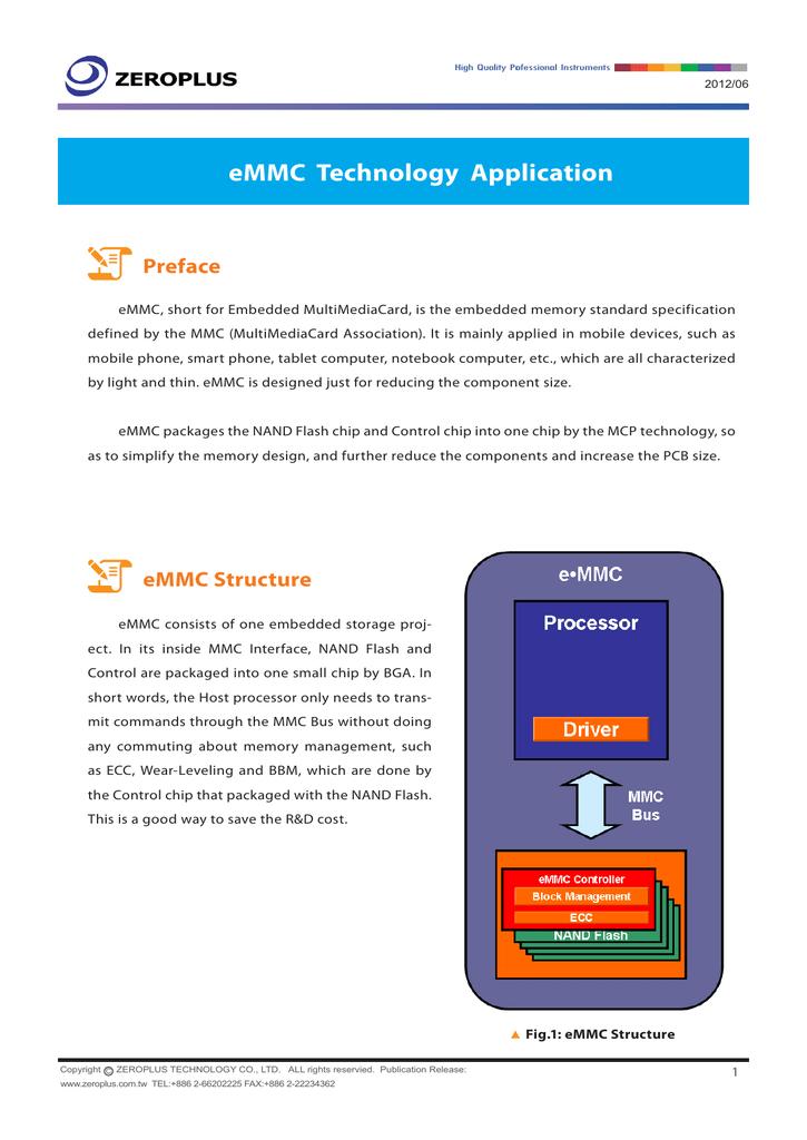 eMMC Technology Application | manualzz com