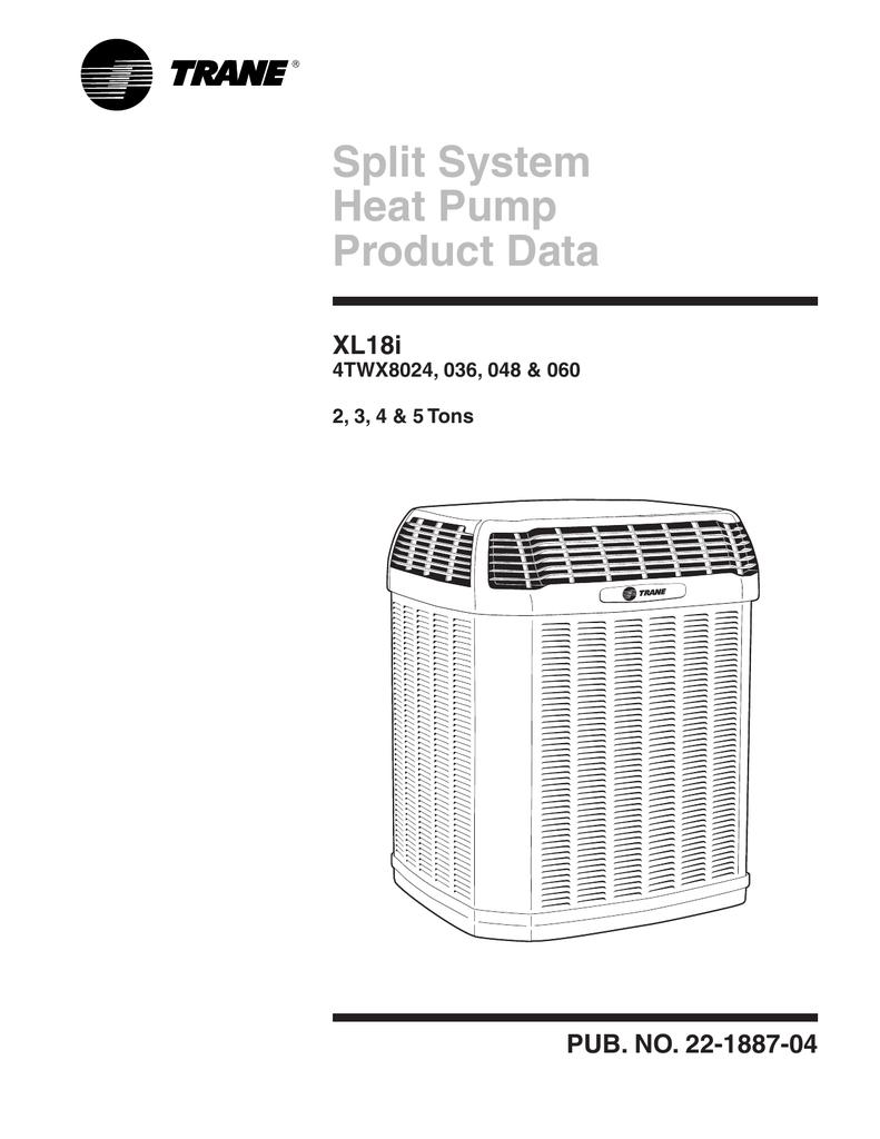 Trane Product Data Split System Heat Pump Xl18i Hard Start Kit Wiring Diagram