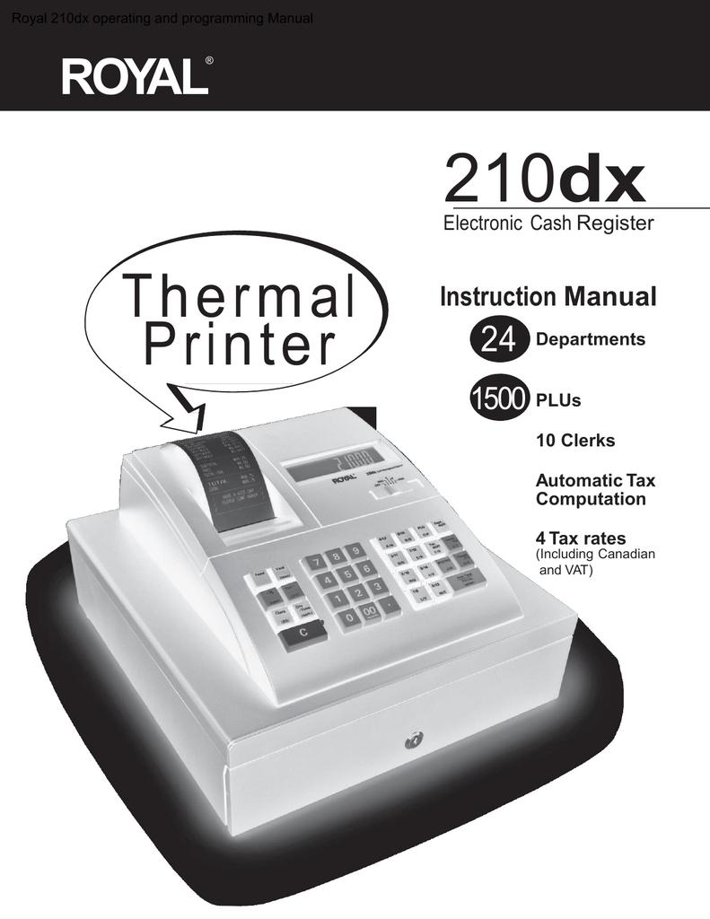 royal 210dx operating and programming manual manualzz com rh manualzz com