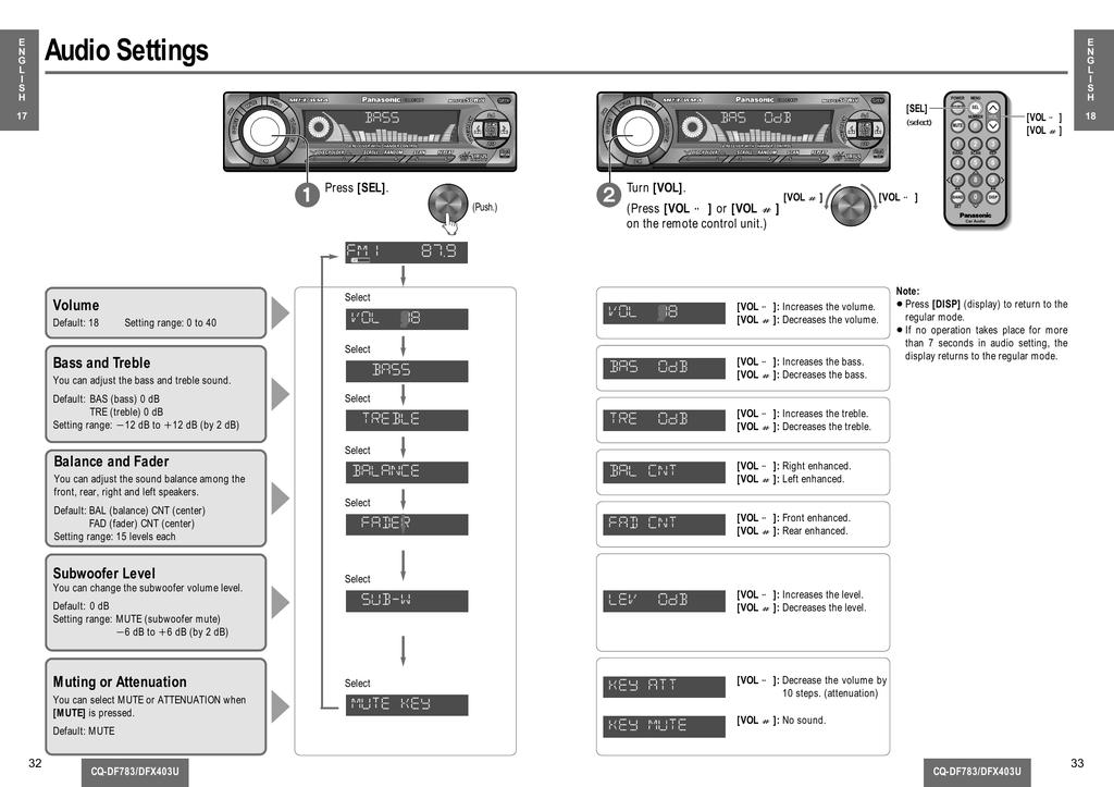 Panasonic Cqdf783u User Manual Manualzz, Panasonic Car Stereo Wiring Diagram