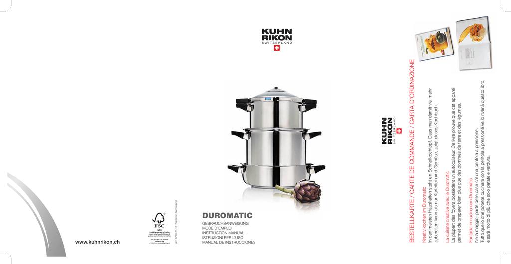 Assortito Kuhn Rikon Ricettario con 60 piatti per Duromatic in italiano