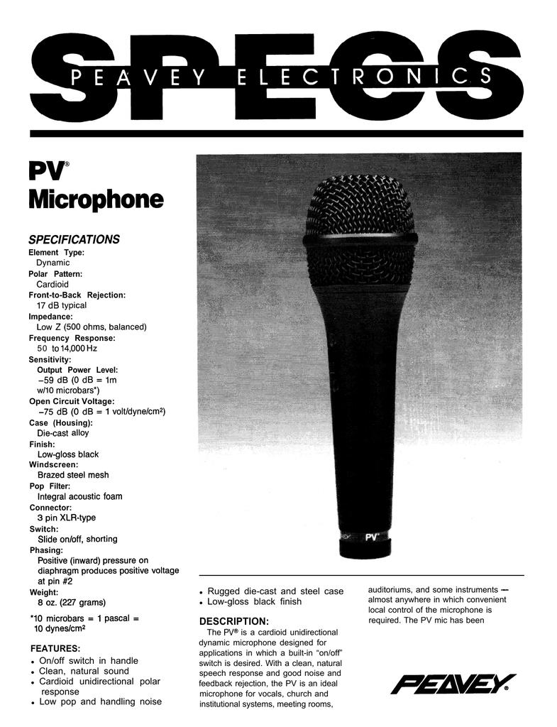 PV@ Microphone | manualzz com