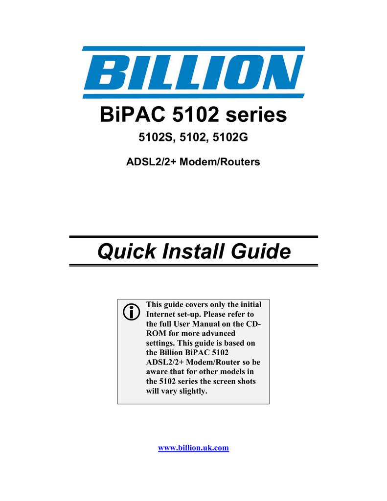 BILLION 5102 MODEM DRIVERS FOR WINDOWS 10