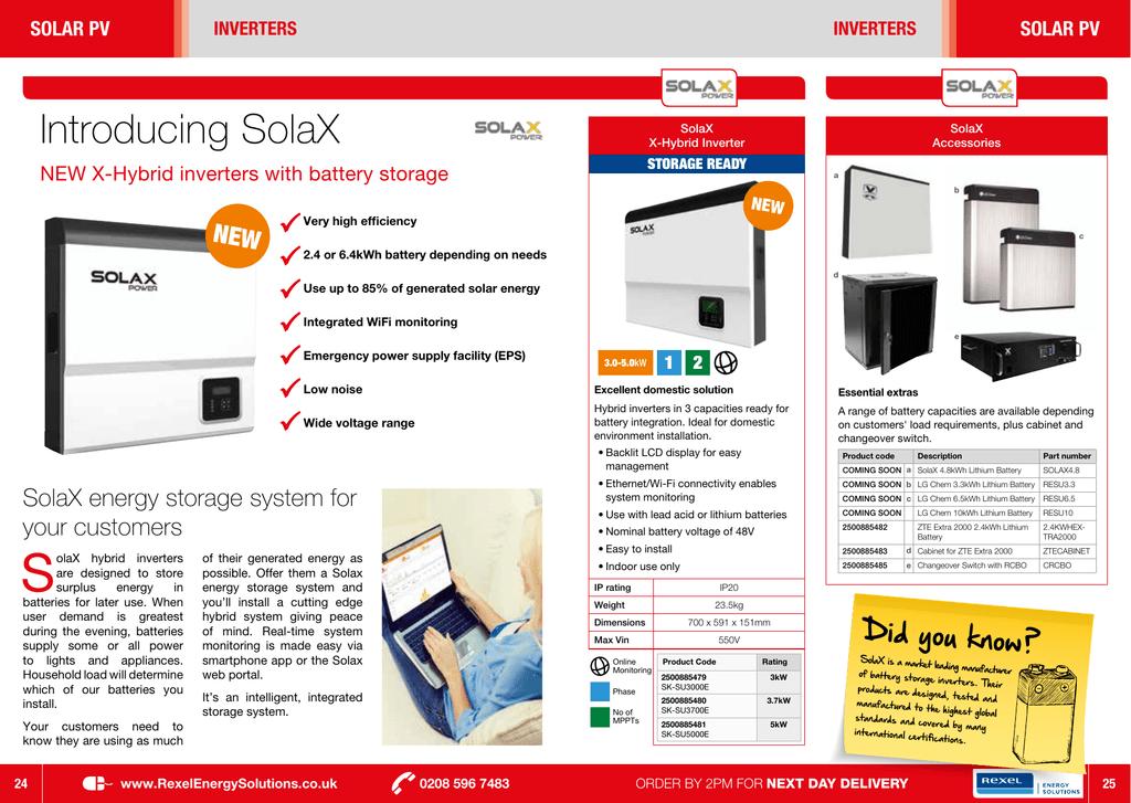 Introducing SolaX | manualzz com