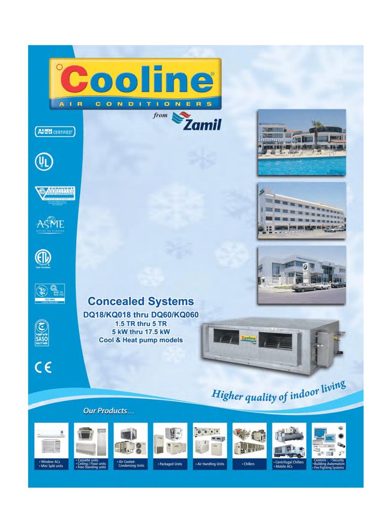 DQ series - Zamil Air Conditioners | manualzz com